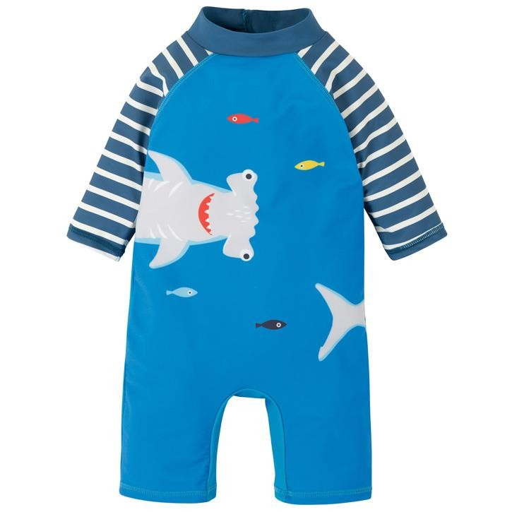 Frugi Little Sunsafe Overall  Motosu Blue/Shark