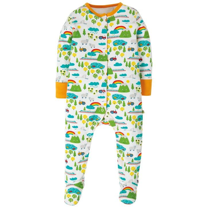 Frugi Lovely Babygrow  Land Of The Rising Sun