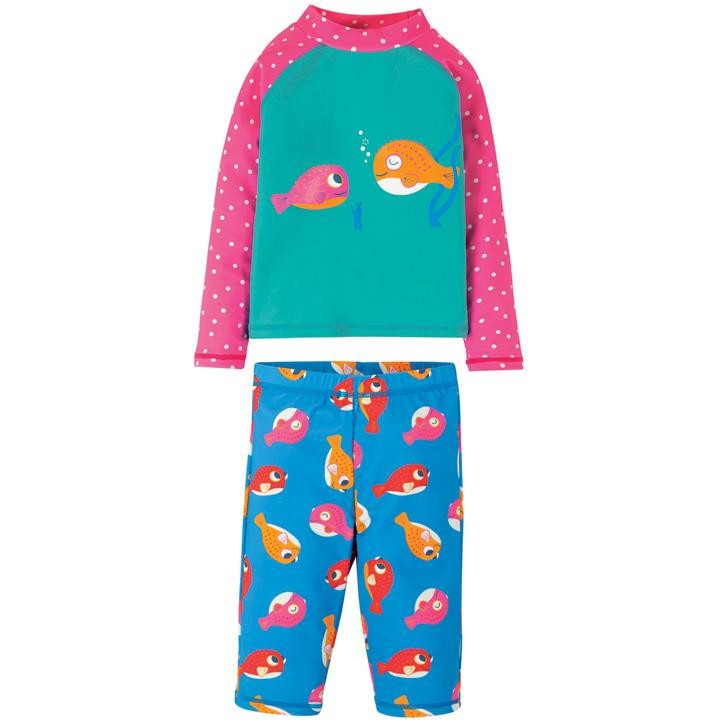 Frugi Sun Safe Set  Pacific Aqua/Fish