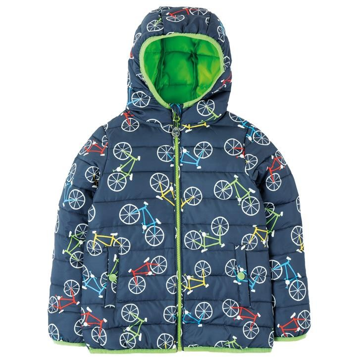 Frugi Toasty Trail Jacke  Indigo Rainbow Roads
