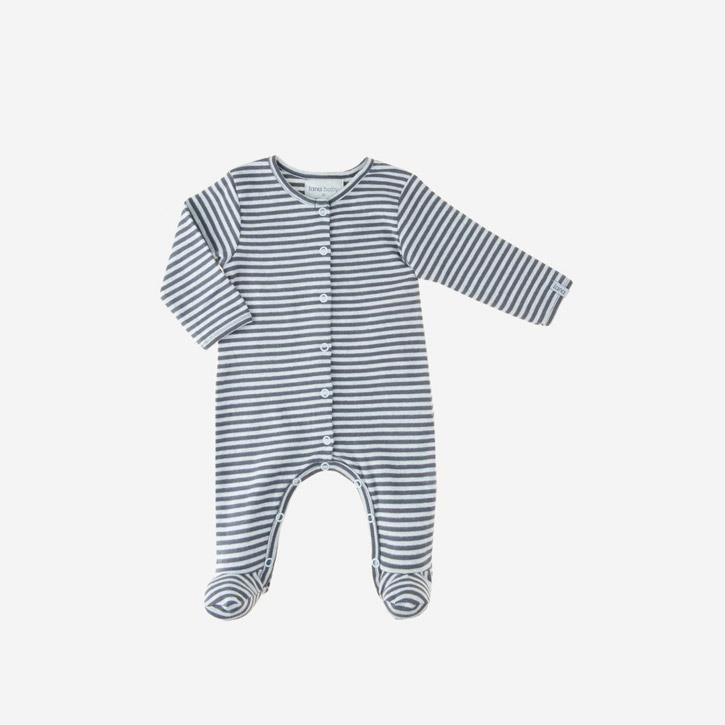 Lana Overall Merle mit Fuß blue air/ombre blue 100 % kbA Baumwolle